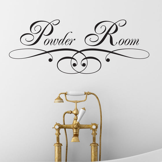 Powder Room Bathroom Wall Sticker