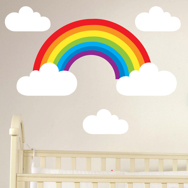 Rainbow Amp Clouds Set Wall Stickers Wallstickers Co Uk