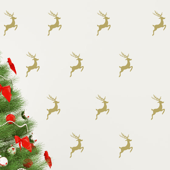 Christmas Reindeer Set Wall Stickers