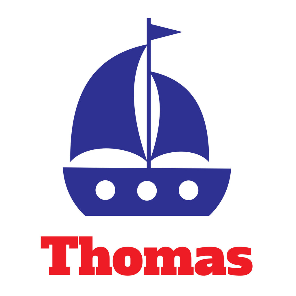 personalised sailboat wall sticker wallstickers co uk