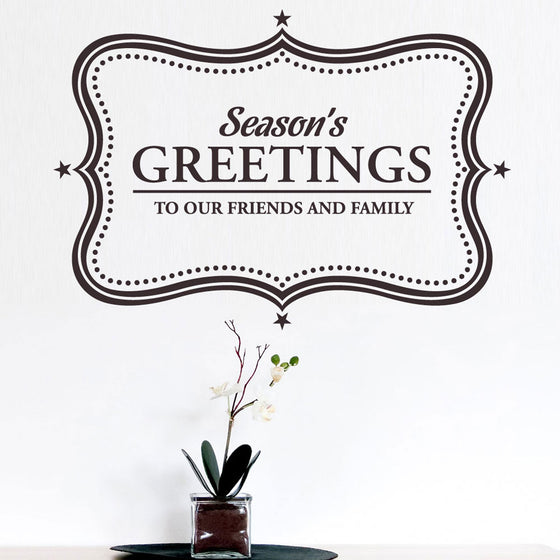 Seasons Greetings Wall Sticker