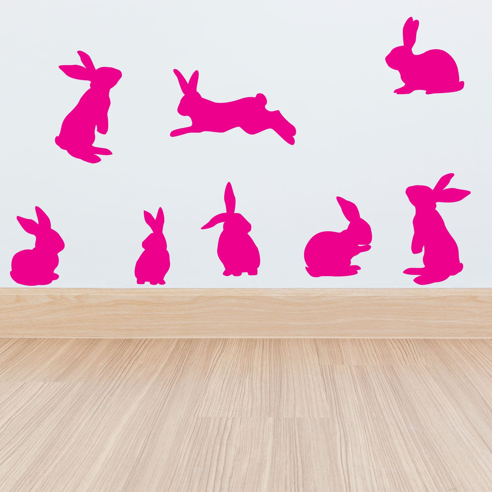 Removable Christmas Wall Stickers Set Of Rabbits Wall Stickers Wallstickers Co Uk