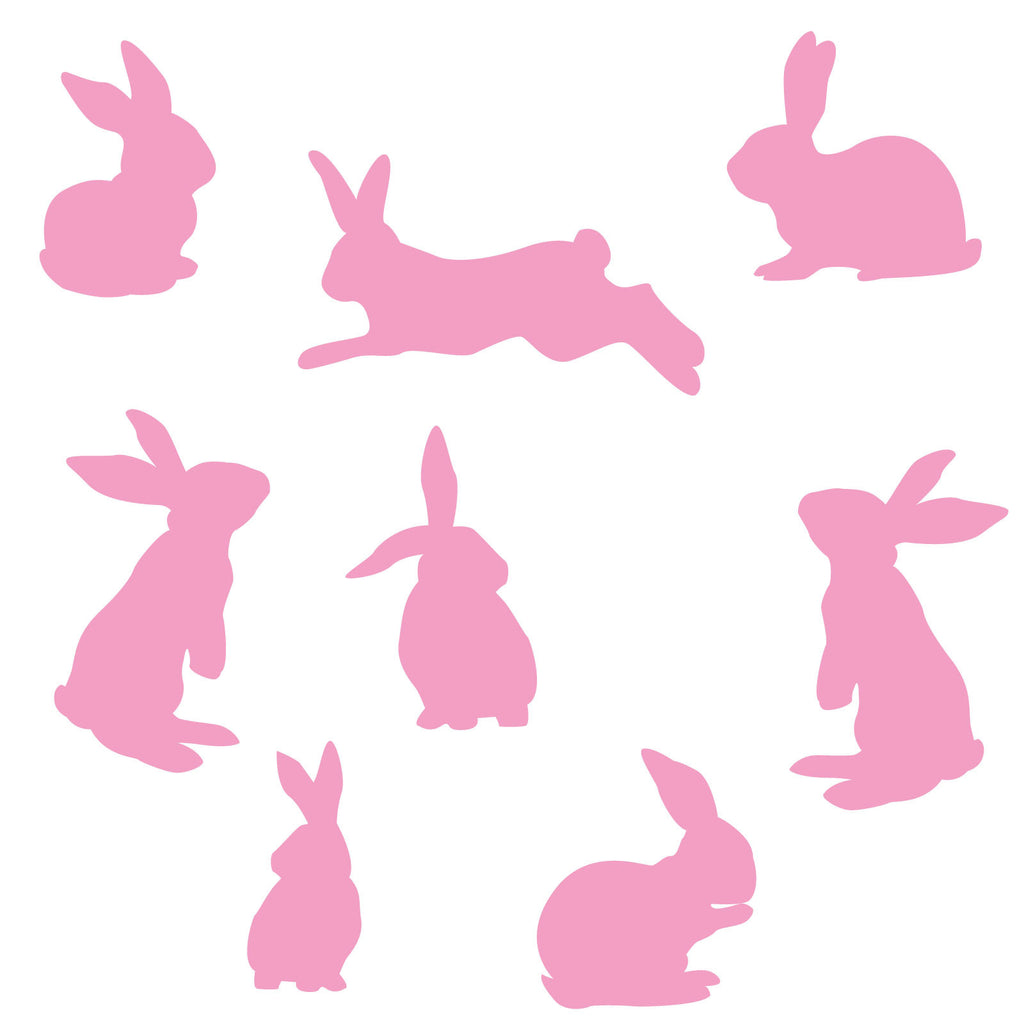 Set of Rabbits Wall Stickers