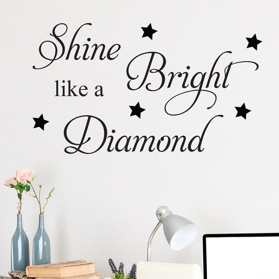 Rhianna Shine Bright Like a Diamond Wall Sticker