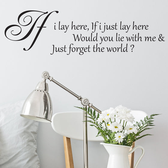Snow Patrol Chasing Cars Quote Wall Sticker