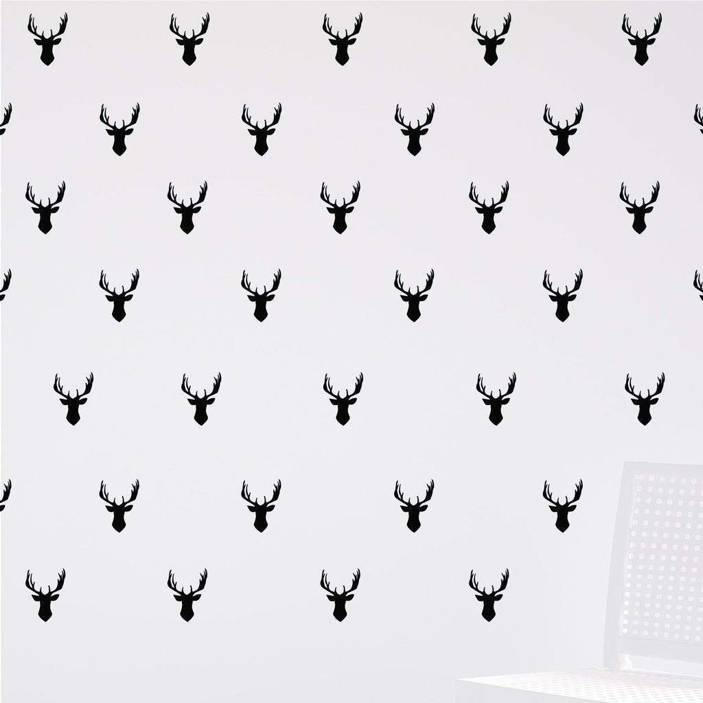 Mini Stags Head Antlers Wall Stickers