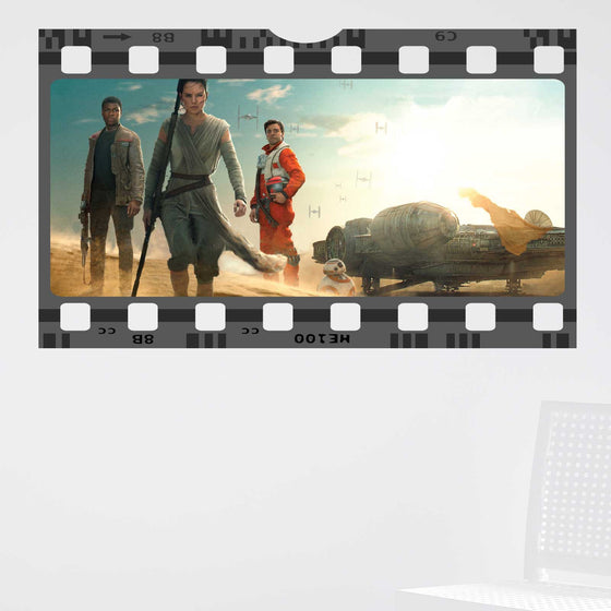 Star Wars The Force Awakens Film Cell Wall Sticker