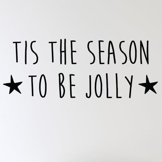 Tis The Season To Be Jolly Wall Sticker