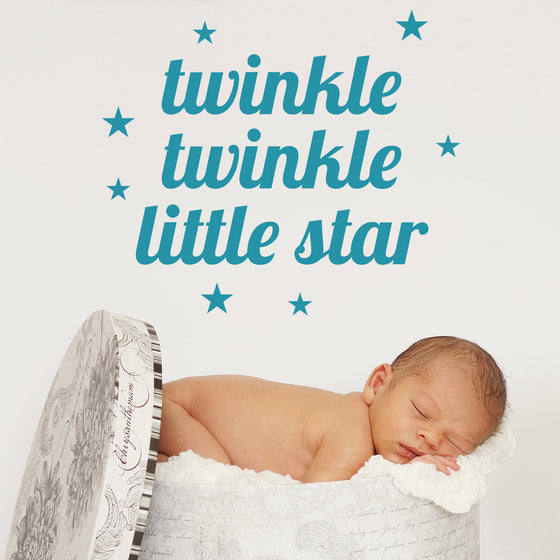 Twinkle Twinkle Little Star Nursery Wall Sticker