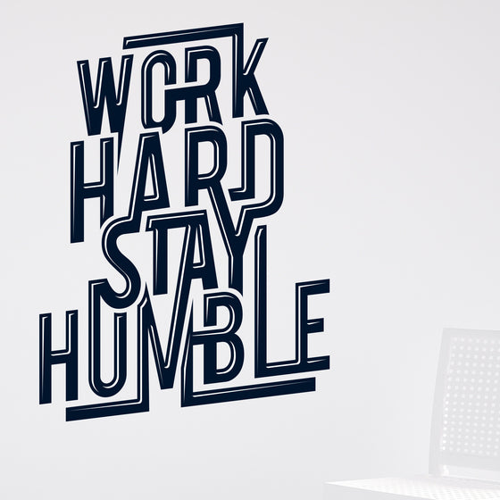 Work Hard Stay Humble Wall Sticker