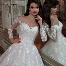 Load image into Gallery viewer, Robe De Mariee Princesse De Luxe 2020 Shiny Beading Crystal Waist Luxury Lace Ball Gown Wedding Dresses