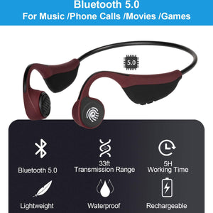 MONODEAL Bone Conduction Headphone Sweatproof for Jogging Running Driving Gym Fitness Use