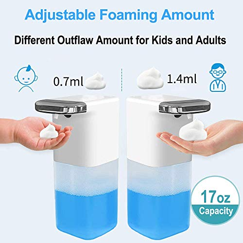 MONODEAL Automatic Foaming Soap Dispenser, Touchless Auto Foam Soap Dispenser for Kids, Adults in Kitchen, Bathroom