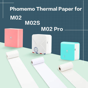 Phomemo Eyes Protection Beige Thermal Paper- for Phomemo M02/M02 Pro/M02S Pocker Printer, 50mm x 3m, Diameter 30mm, 3 Rolls