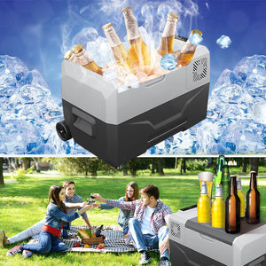 MONODEAL Portable Car Fridge, Freezer for Driving, Outdoor Working and Travel, Camping, Picnic, BBQ, Patio (30 Quart)