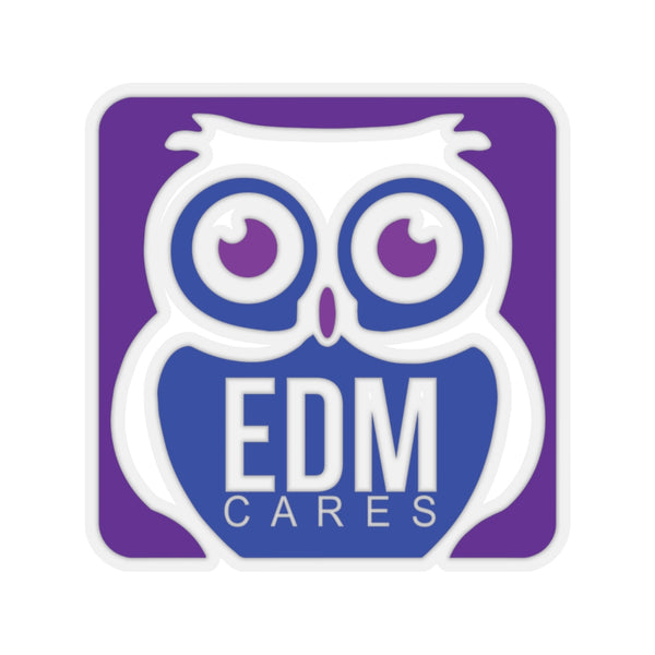 EDM Cares Color Logo - Kiss-Cut Stickers