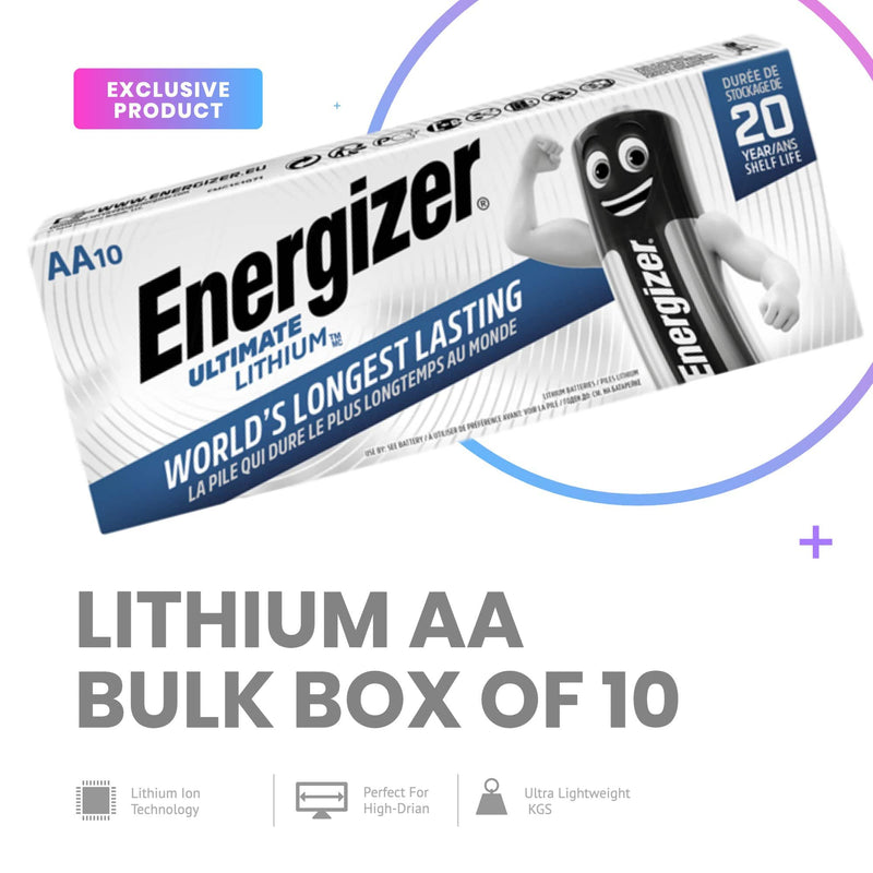 ENERGIZER LITHIUM BATTERY BULK AA Box of 10 - NZ Battery Specialists New Zealand