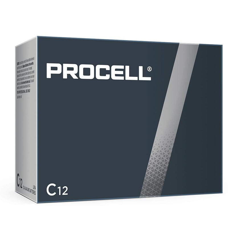 Procell-Duracell 1.5V C Bulk Box of 12 - NZ Battery Specialists New Zealand