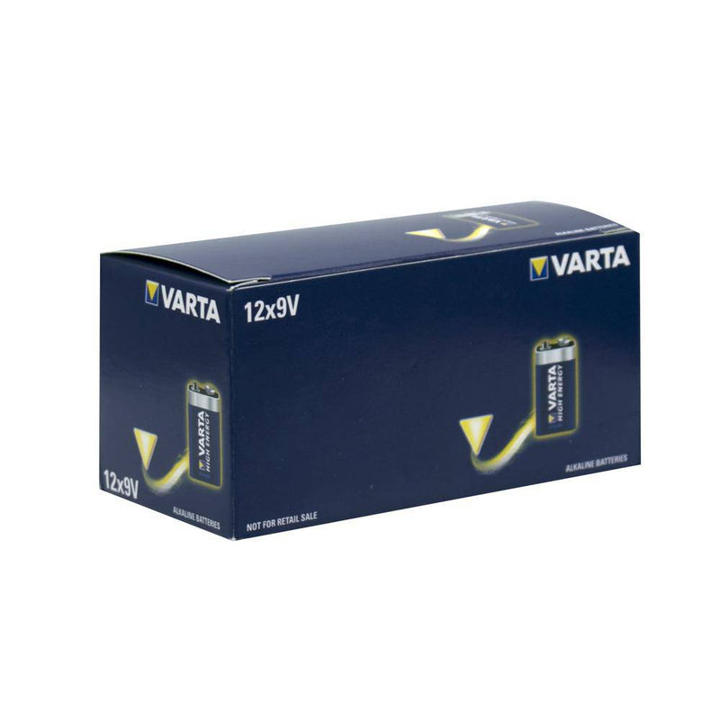VARTA High Energy Industrial 9V Bulk BOX OF 12 VAI9V-12 - NZ Battery Specialists New Zealand