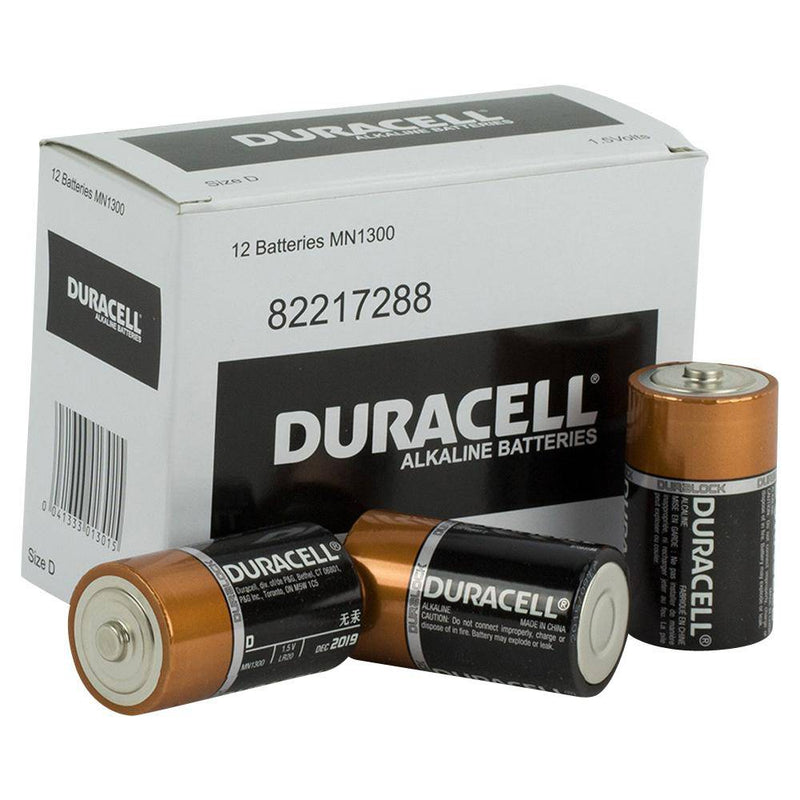 Duracell Coppertop D size battery Bulk box of 12 - NZ Battery Specialists New Zealand