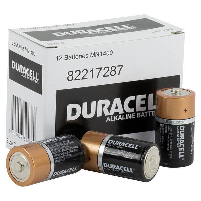 Duracell Coppertop C size battery box of 12 - NZ Battery Specialists New Zealand