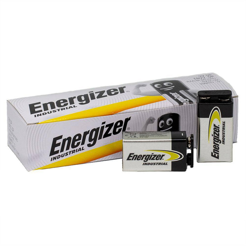 Energizer Industrial 9V Bulk Box of 12 - NZ Battery Specialists New Zealand