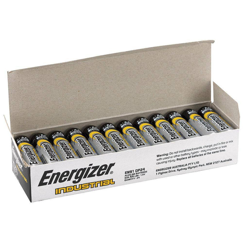 Energizer Industrial AA Battery Box of 24 - NZ Battery Specialists New Zealand