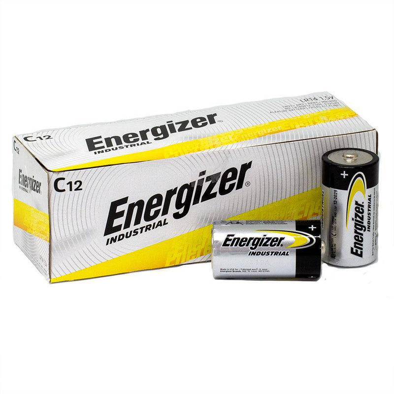 Energizer C Industrial Bulk box of 12 - NZ Battery Specialists New Zealand