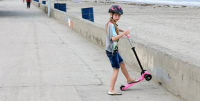 Micro & the Benefits of Kids Riding Kick Scooters by La Jolla Mom