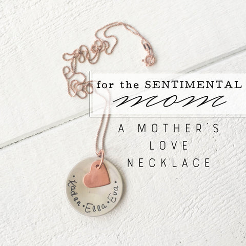 Handcrafted Mothers Love Necklace for Sentimental Mom Gift for Mothers Day