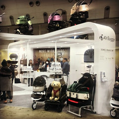 Dog Stroller Vendor at InterPets Dog and Pet Trade Show