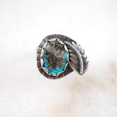 Mountainside Designs Handmade jewelry turquoise silver ring native american montana bozeman hattie rex