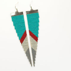 Pigment Project Loomed Earrings Handmade Art Montana hattie rex