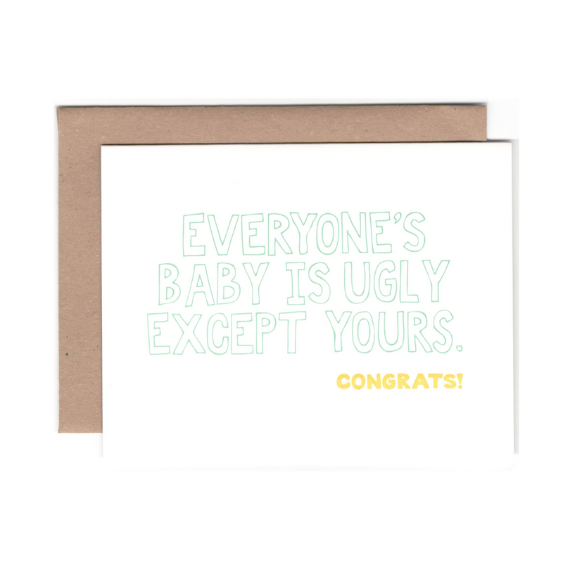 Ugly Baby Greeting Card