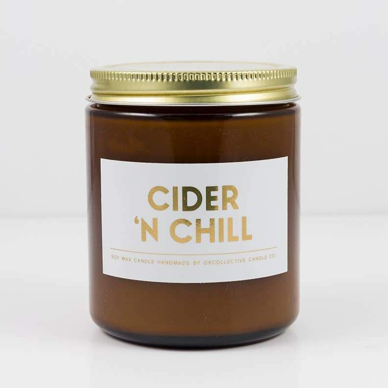 Cider 'N Chill 8oz - Non Toxic Soy Holiday Candle