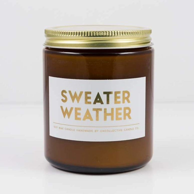 Sweater Weather 8oz - Non Toxic Soy Holiday Candle -