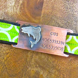 Jumping Trout Quiet Pet Tag