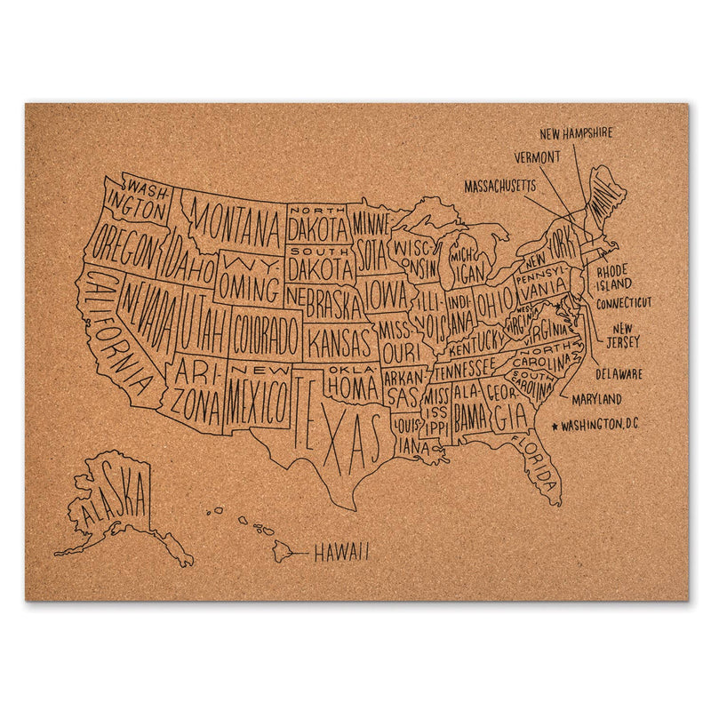 Cork Map USA