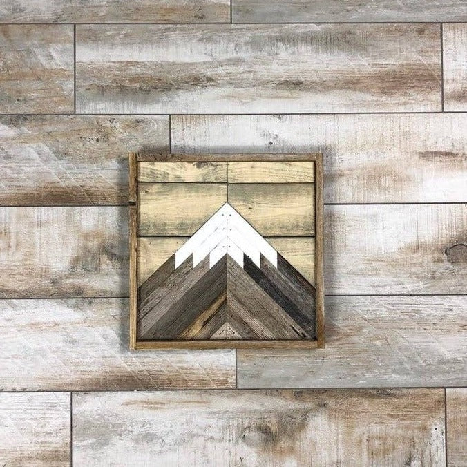 Rustic Mini Mountain Wall Art