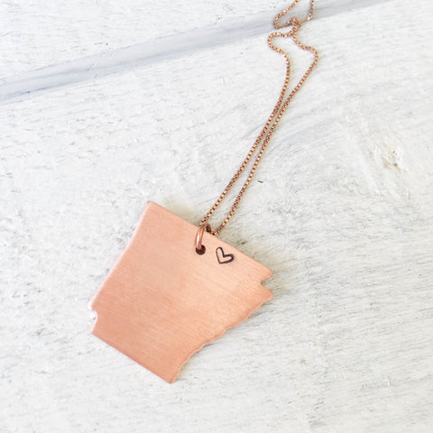 Ombre Initial Pendant Necklace