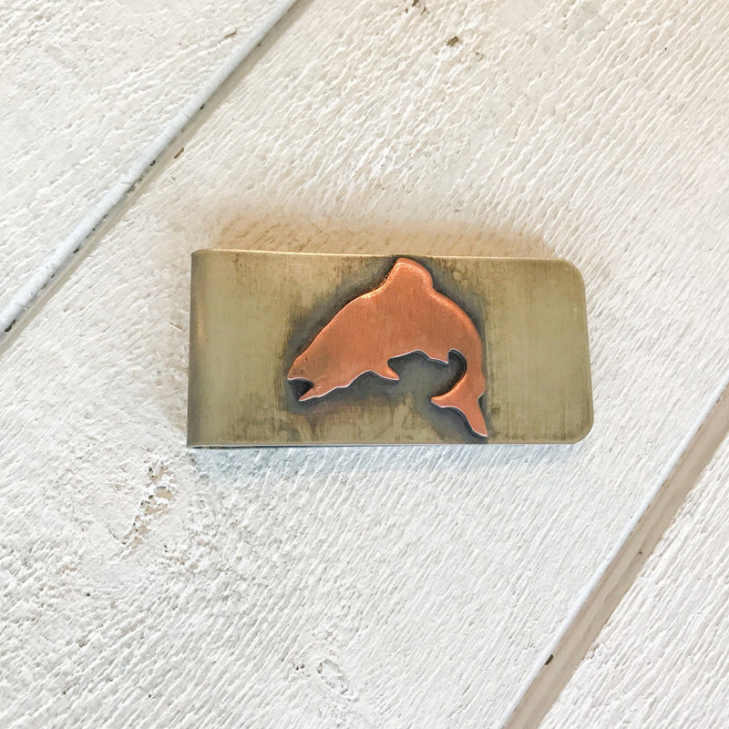 Jumping Trout Money Clip Money Clip handmade gift Bozeman, Montana