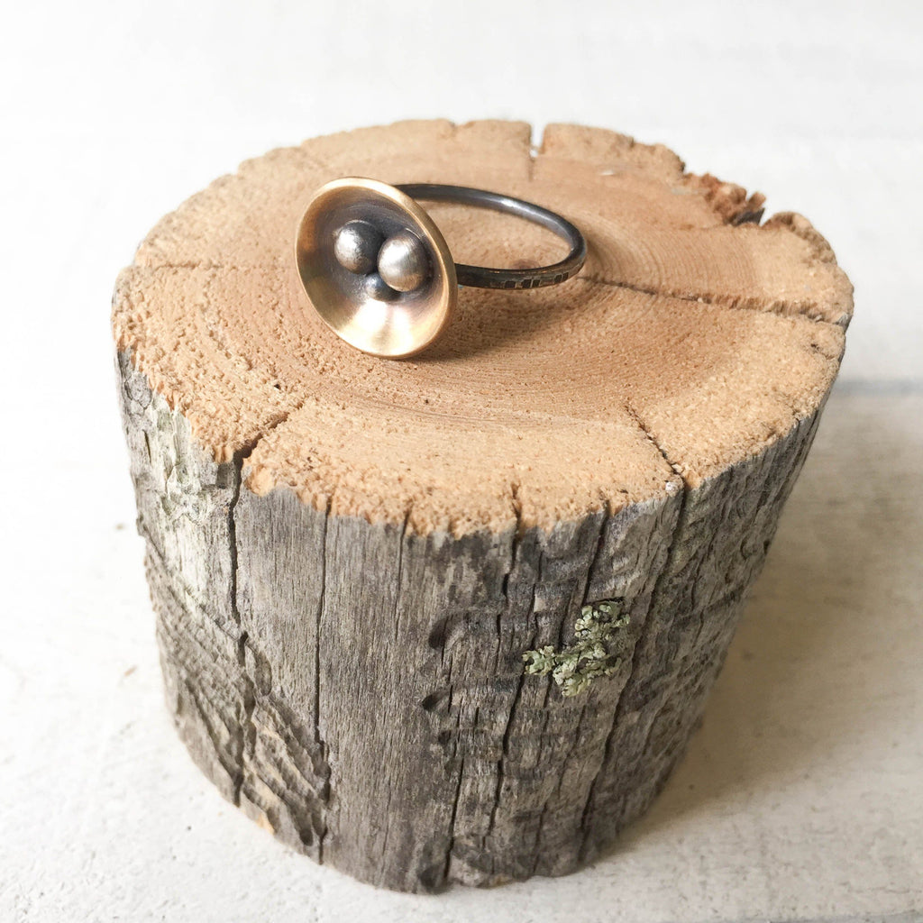 Queen of Cups Ring Ring handmade gift Bozeman, Montana