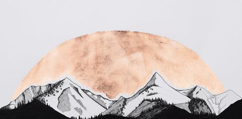 Bridger Mountains Original Drawing