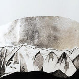 Bridger Mountains Original Drawing Original Drawing handmade gift Bozeman, Montana