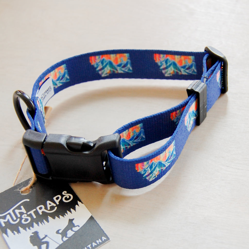 Mtn Blues Dog Collar