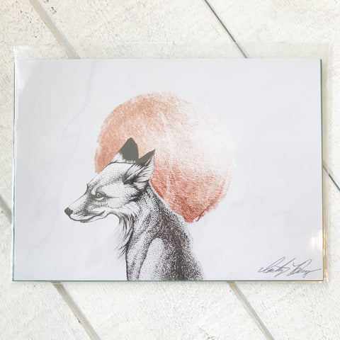 Moonlight Fox Print