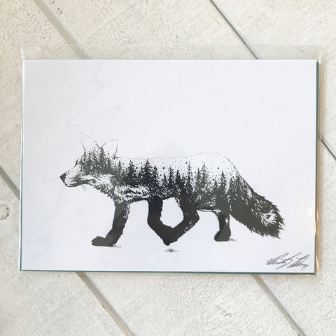Forest Fox Print