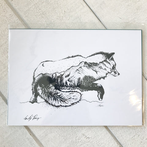 Mountain Fox Print