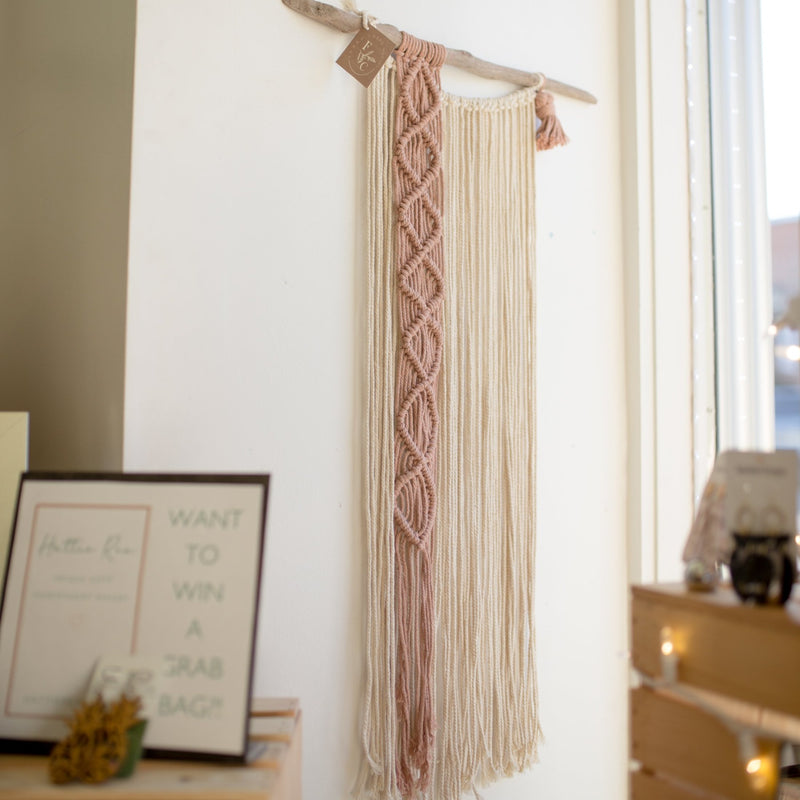 Linear Large Macrame Wall Hanging