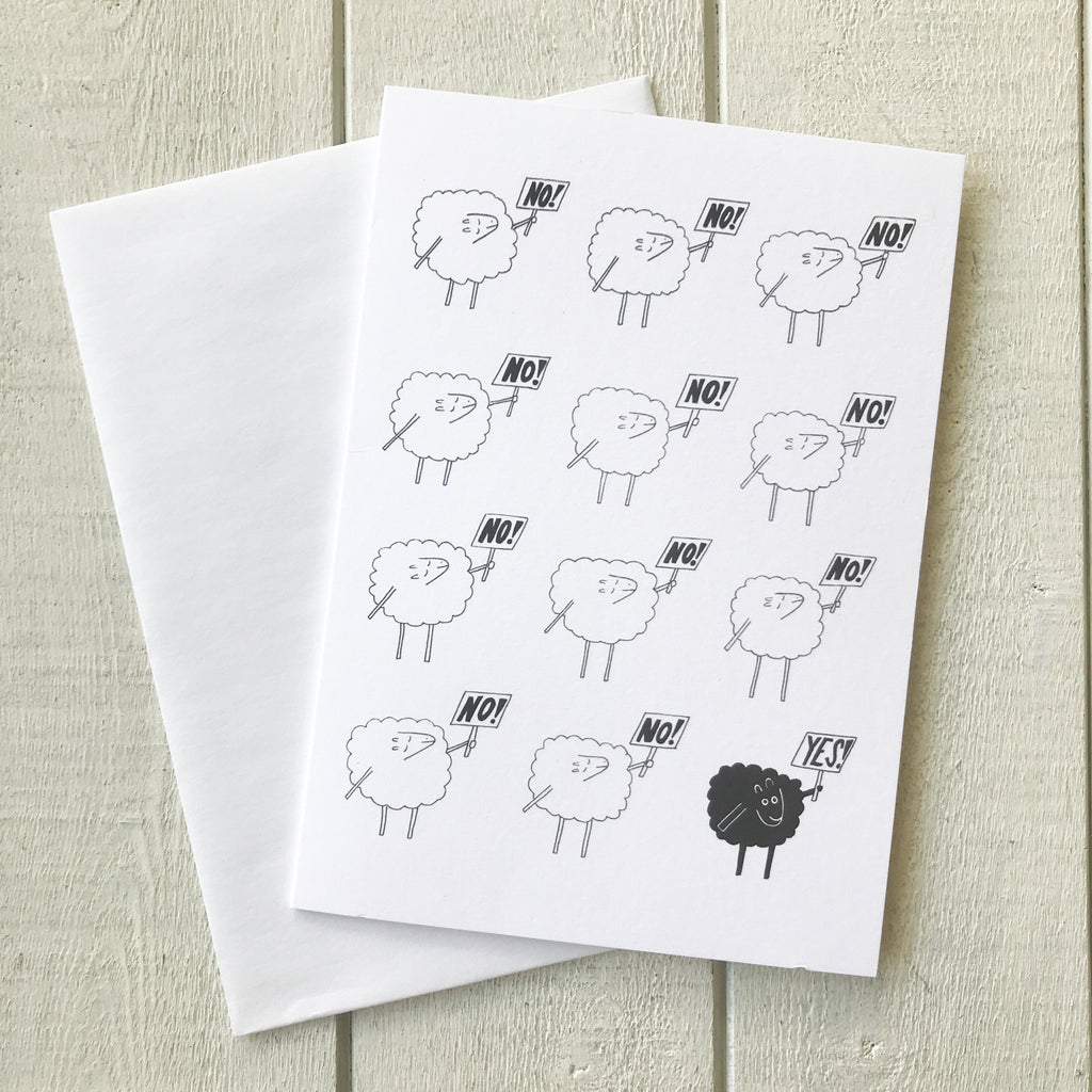 Black Sheep Card Greeting Card handmade gift Bozeman, Montana